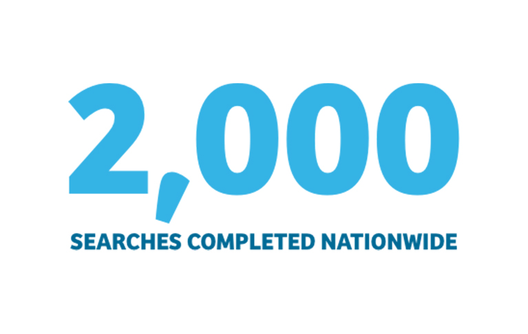 2,000 searches nationwide.